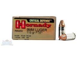 Hornady 9mm 115gr FTX Critical Defense Ammunition 25rds - 90250