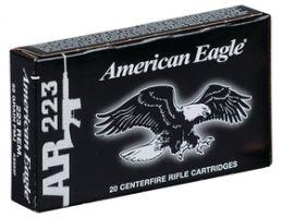 american eagle 223 55 grain fmj ammo 20 rounds