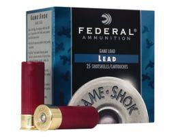 "Federal 20ga 2.75"" 1oz #7.5 ""Game-Shok"" Heavy Field Lead Shotshells 25rds - H202 7.5"