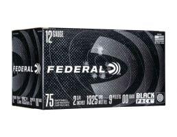 """Federal 12 Gauge 2.75"""" 00 Buck 75 Round Black Pack"""