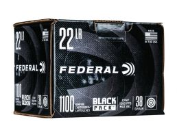 Federal .22 LR 38 gr CPHP 1100 Round Black Pack
