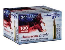 American Eagle 223 Rem 55gr FMJBT Ammunition, 100rds - BP223BL