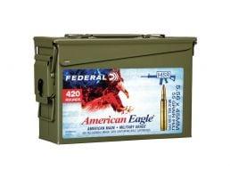 Federal American Eagle 5.56 55gr FMJ-BT 420rd M2A1 Ammo Can - XM193bk420 AC1