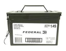 Federal 55 gr FMJ 5.56x45 Ammo 400 Round Ammo Can XM193