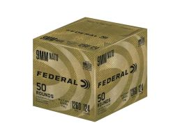 Federal 124 gr Military Grade FMJ 9mm Ammo 50 Rounds | PSA