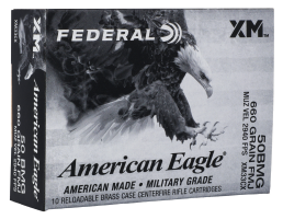 Federal .50 BMG Ammo 660 Grain FMJ