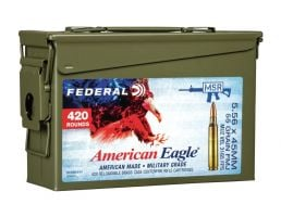 Federal American Eagle 55 gr FMJ-BT 5.56x45 Ammunition 420 Rounds