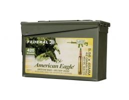 Federal American Eagle 5.56 62gr FMJ-BT 420rd Loose M2A1 Ammo Can - XM855BK420 AC1