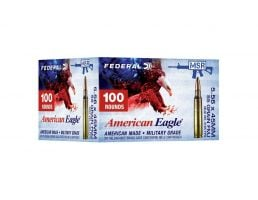 Federal American Eagle Training 55 gr FMJ 5.56x45 Ammunition 100 Rounds