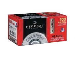 Federal Champion Aluminum 230 gr FMJ .45 ACP Ammo 100 Rounds | PSA