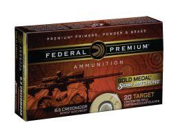 Federal Gold Medal 107 gr BTHP 6.5 Creedmoor Ammunition 20 Rounds