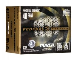 Federal Premium Punch 165 gr JHP .40 S&W 20 Rounds