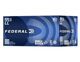 Federal Range Pack 40gr HV LRN .22 Long Rifle  Ammunition 800 Rounds