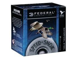 "Federal Speed Shok 12 Gauge 3 1/2"" 1 1/2 oz 1 Shot 25 Rounds"