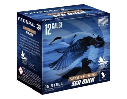 "Federal Speed Shok Sea Duck 12 Gauge 3"" 1 1/4 oz 2 Shot 25 Rounds"
