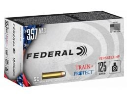 Federal Train and Protect .357 Magnum 125 gr JHP 50 Rounds Ammunition
