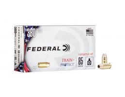 Federal Train And Protect 85 gr VHP .380 ACP 50 Rounds Ammunition