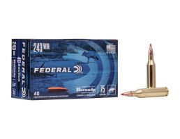 Federal Varmint and Predator 75 gr VMAX .243 Winchester 40 Rounds
