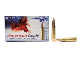 Federal 5.56mm NATO 55GR FMJ-BT 500 Round Ammunition - XM193CS