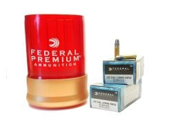 Federal 22 Long Rifle Champion 100rds Can/Cooler Combo