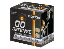 """Fiocchi Defense Dynamics 12 Gauge 2.75"""" 00 Buck 9 Pellet 25 Rounds"""