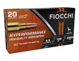 Fiocchi Hyperperformance 129 gr SST 6.5 Creedmoor Ammunition, 20 Rounds