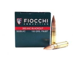 Fiocchi 300 AAC Blackout 150gr FMJ Ammunition 50rds - 300BLKC