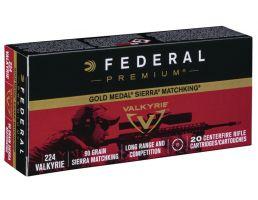 Federal Gold Medal Sierra Matchking .224 Valkyrie 90gr Ammunition, 20 rds - GM224VLK1