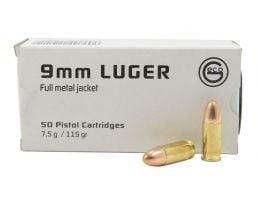 Geco 9mm 115gr FMJ 50rd Ammo Box