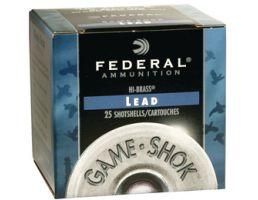 "Federal 410ga 3"" Max 11/16oz #4 ""Game-Shok"" Hi-Brass Lead Shotshells 25rds - H413 4"