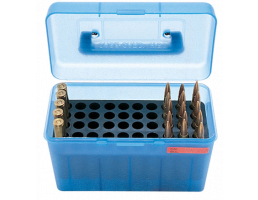 MTM Deluxe FlipTop Ammo Box 7MM-B-Blue-50rd-H50-R-Mag-24