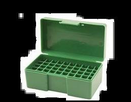 RCBS - Flip-Top Ammo Box 38 Special, 357 Magnum 50-Round Plastic Green - 86905