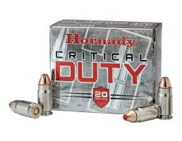 Hornady Critical Duty 124 gr Flexlock 9mm +P Ammunition, 25 Rounds