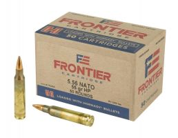 Hornady Frontier Rifle 5.56 NATO 55 GR Hollow Point Match 50 Rounds
