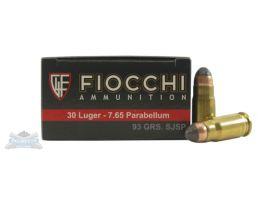 Fiocchi 30 Luger SJSP 93gr 50 Rounds Ammunition - 765B