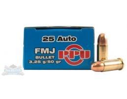 PRVI Partizan 25 Auto/ACP 50gr FMJ Ammunition 50rds - PP-R2.1