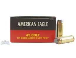 American Eagle 45 Colt 225gr JSP Ammunition 50rds - AE45LC