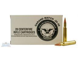 Federal 30-06 150gr FMJBT Garand Match Ammunition 20rds - CMP3006N