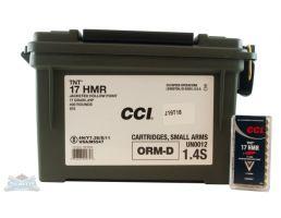 CCI .17 HMR 17gr TNT Ammunition 400rd Plastic Ammo Can -  975