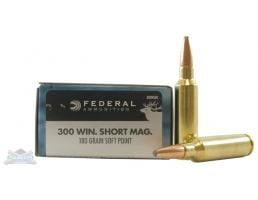 Federal 300 WSM 180gr SP Power-Shok Ammunition 20rds - 300WSMC