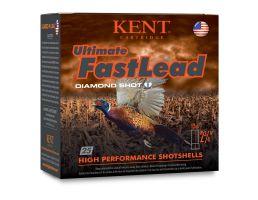 "Kent Cartridge Ultimate Fast Lead 12 Gauge 2 3/4"" 1 3/8 oz 4 Shot, 25 Rounds"