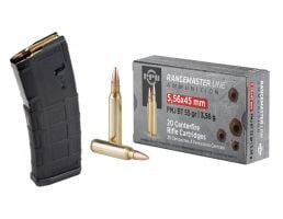 PPU Rangemaster 55 gr FMJBT 5.56x45 Ammunition 200 Rounds & 10 Magpul PMAG 30 Round 5.56x45 GEN 2 MOE Magazines
