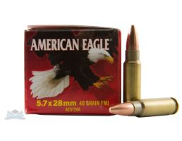 American Eagle 5.7x28mm 40gr FMJ Ammunition 50rds - AE5728A