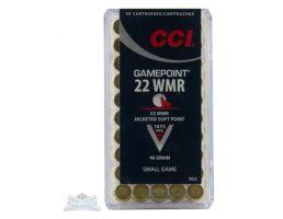 CCI .22 WMR 40gr JSP GamePoint Ammunition 50rds- - 0022
