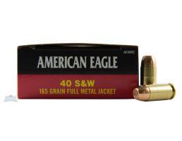 American Eagle 40 S&W 165gr FMJ Ammunition 50rds - AE40R3