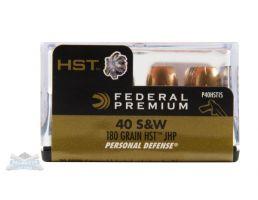 Federal 40 S&W 180gr HST Ammuniiton 20rds - P40HST1S