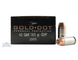 Speer 40 S&W 165gr Gold Dot Ammuniiton 20rds - 23970