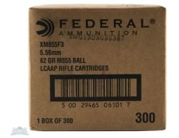 Federal 5.56mm  62gr FMJ Steel Core Ammunition 300rds - XM855F3