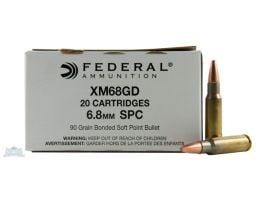 Federal 6.8mm SPC 90gr Bonded SP Ammunition 20rds - XM68GD