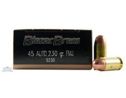 CCI blazer brass 45 auto/acp 230 grain fmj ammo 50 rounds